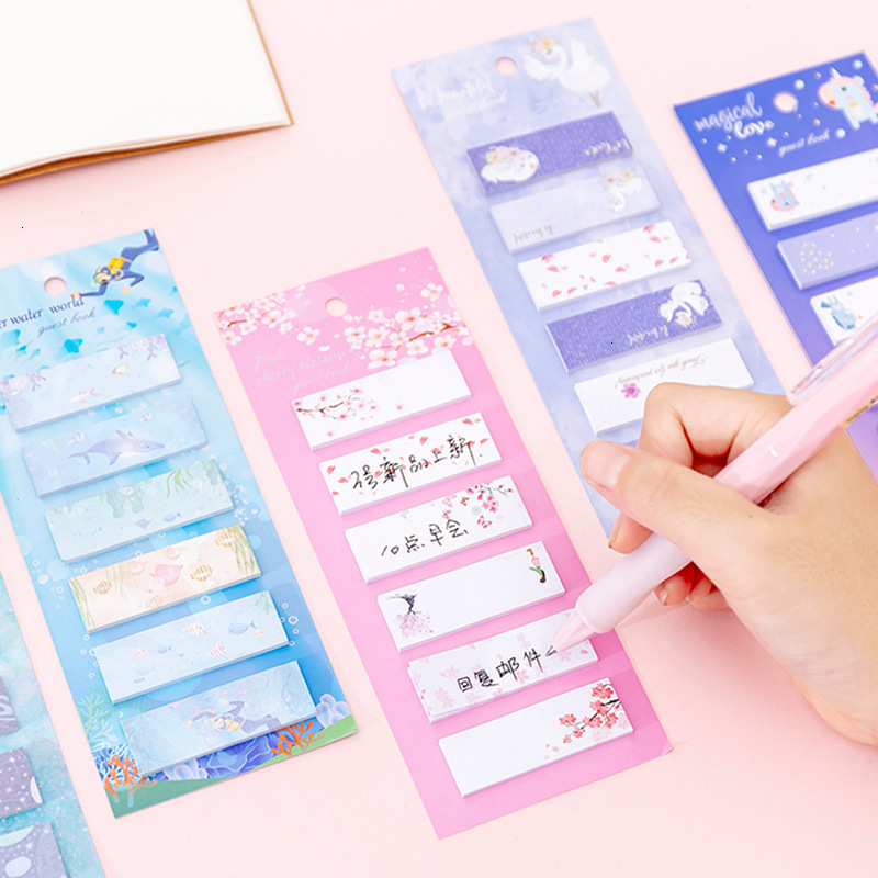 Creative Cute Colorful Memo Pad Cartoon Sticky Notes Stationary Kawaii Adhesive Decoration Notepad School Office Supplies 02181