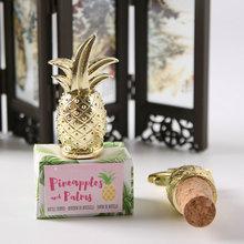 Свадебные сувениры золотые ананасы пробка для бутылки Кухня Бар свадебные принадлежности для гостей