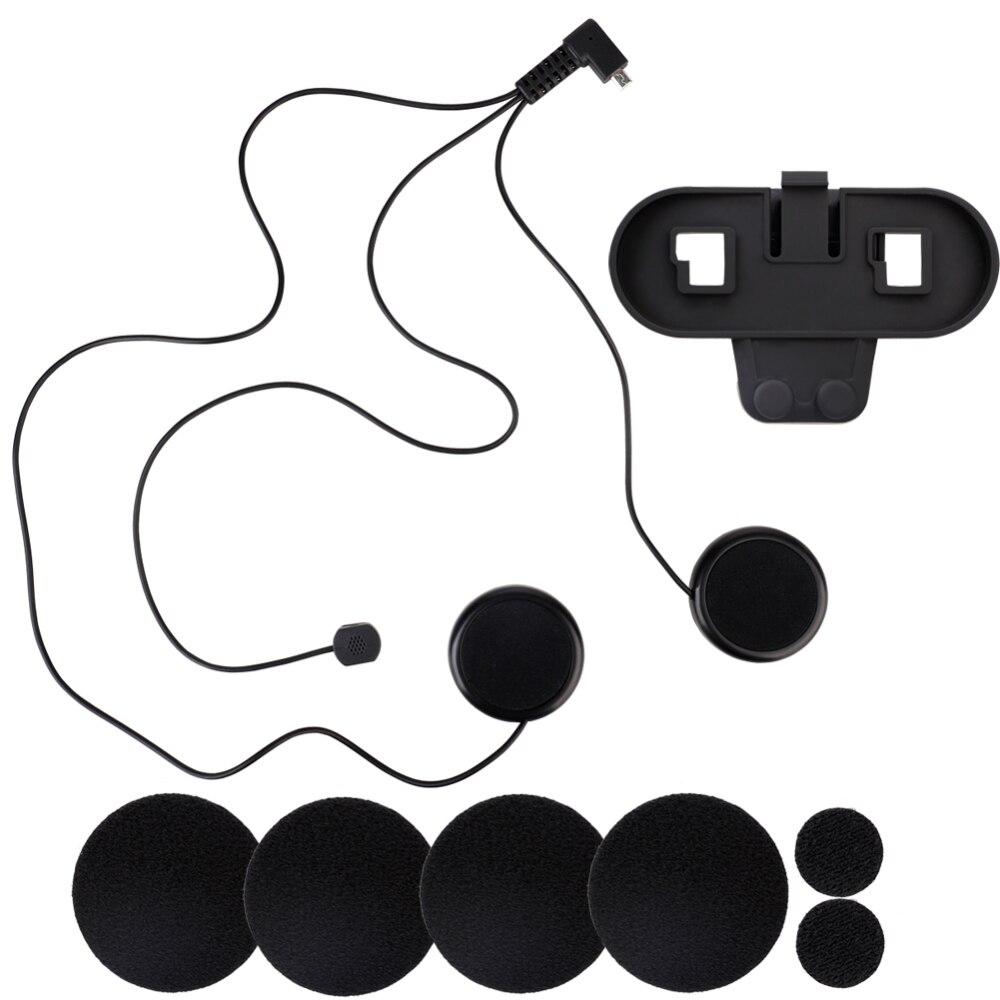 Motorrad Helm Bluetooth Intercom Für Wired Motorrad Bluetooth Headsets 800M Intercom Für TCOM-SC Weiche Linie Clip