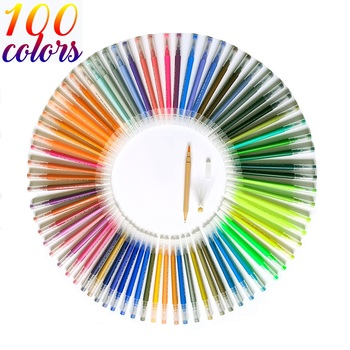100 Colors Fine Liner Dual Tip Brush Pen Felt-Tip Pen Drawing Painting Watercolor Art Marker Pens School Supplies подводкафломастер proline felt tip eyeliner 3 мл wetnwild глаза