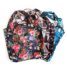 Handbag Grocery-Bags Shoulder Folding Eco-Friendly Polyester Waterproof Reusable