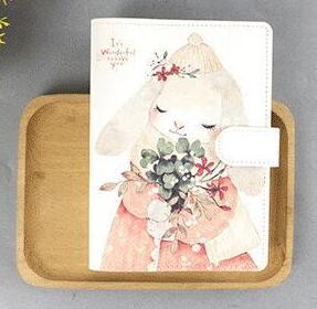Cute Cartoon Fish Rabbit Friend A6 Diary 200P Notebook Gift DIY Undated Monthly Daily Plan+Free Note Book image