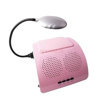 nail tools Nail cleaners led lights two fans high power timing nail dust vacuum machine shavings vacuum tools