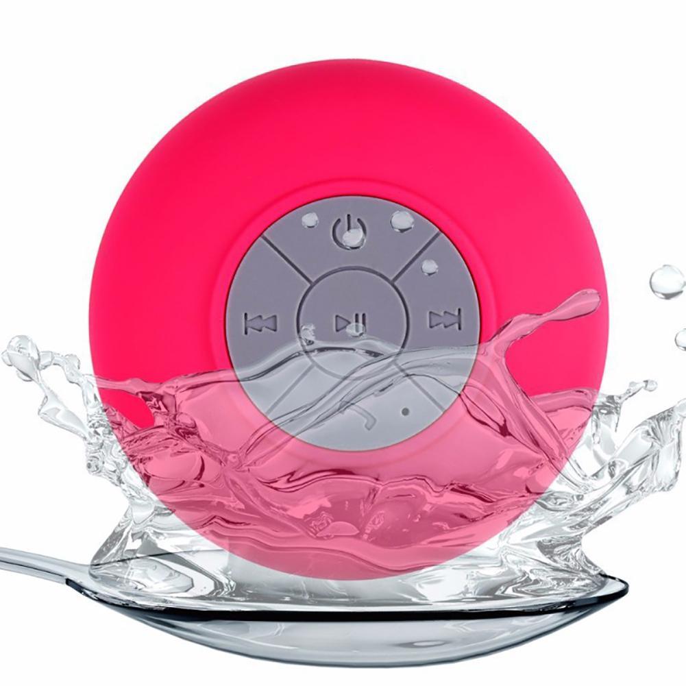 Mini Altavoz Bluetooth portátil impermeable altavoces manos libres inalámbricos con ventosa para duchas baño piscina coche playa 120dB dispositivo Anti-Violación de autodefensa altavoces dobles alerta de alarma de ataque de pánico seguridad Personal llavero colgante de bolsa