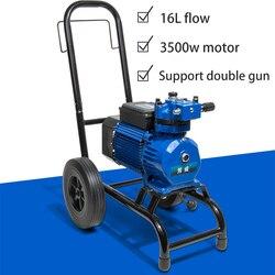 Elektryczny  wysoki ciśnienie rury natrysk hydrodynamiczny spray lateksowa farba kit high power engineering maszyna do malowania natryskowego mała