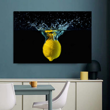 Nordic Pictures The Lemon Fell Into The Water Wall Art Canvas Painting For Home Kitchen Decor Painting On Canvas For Unique Gift