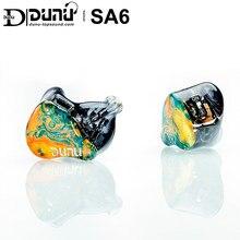 Dunu studio sa6 6ba knowles sonion armadura balanceada in-ear fone de ouvido iem com dois interruptores de ajuste 2pin 0.78mm furukawa cabo occ
