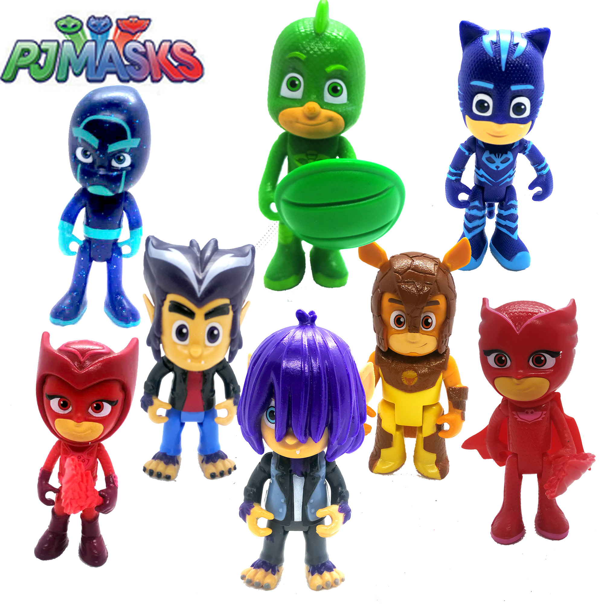 Genuine PJ Masks Figure Character Catboy Owlette Gekko Figures Anime With Arms Toys Birthday Gift OriginalToys For Children Boys