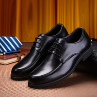 Leather Shoes, Round Head Business Men's British Youth Leisure Black Lace One Hair Replacement Men Shoes Freeshipping Sale 2019