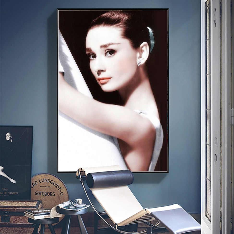 Pittura diamante Piazza Piena di Audrey Hepburn Balletto Poster 5D FAI DA TE Strass Mosaico di Arte Della Parete della Tela di Canapa Pittura Film star Punto