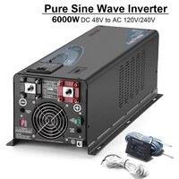 SUNGOLDPOWER 6000W Solar Power Inverter Charger Pure Sine Wave DC 48V Split AC 120V 240V Voltage Converter Photovoltaic Inverter