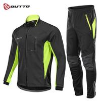Outto Winter Fleece Cycling Sets Bicycle Thermal Jacket Men's Bike Trousers ropa ciclismo Winter Cycling Clothing Sportswear