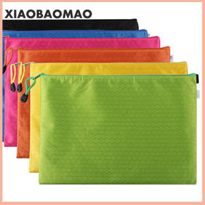 Stationery Document-Pouch File-Folder Zipper-Bags Canvas A6 Filing-Production A4 School