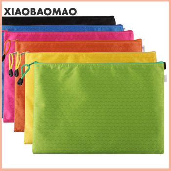 Canvas B8 A6 A5 B5 A4 B4 A3 Zipper Bags Colorful Document Pouch File Bag File Folder Stationery School Words Filing Production