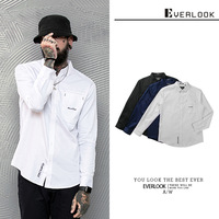 El Men'S Wear Spring New Products Top Grade Pure Cotton New Style Slim Fit MEN'S Long sleeved Shirt Fashion Casual Pure