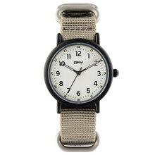 التناظرية الكوارتز ساعة مضيئة حزام نايلون ساعة المعصم للرجال الرياضة نمط ساعات للجنسين عادية اليابان