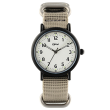 Analog Quartz Luminous Watch Nylon Strap Wristswatch for Men Sport Style Casual Unisex Watches Japan Movement
