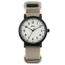 אנלוגי קוורץ זוהר שעון ניילון רצועת Wristswatch עבור גברים ספורט סגנון מזדמן יוניסקס שעונים יפן תנועה