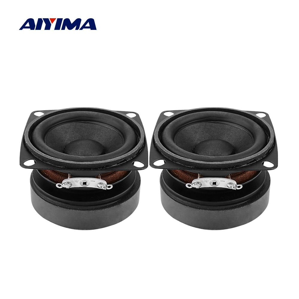 Aiyima 2 pçs 53mm alto-falantes portáteis de áudio gama completa 4 ohm 15 w altifalante som diy mini alto-falante para o cinema em casa