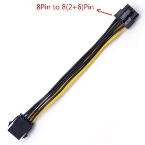 Image 4 - 5/10 pces pci e pcie placa gráfica 6pin fêmea para gpu 8pin macho cabo de conversão atx 6pin para pci express 8pin cabo de alimentação