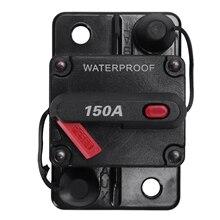 12 В/24 В автомобильный морской аудио держатель предохранителя 150A ручной сброс автоматический выключатель