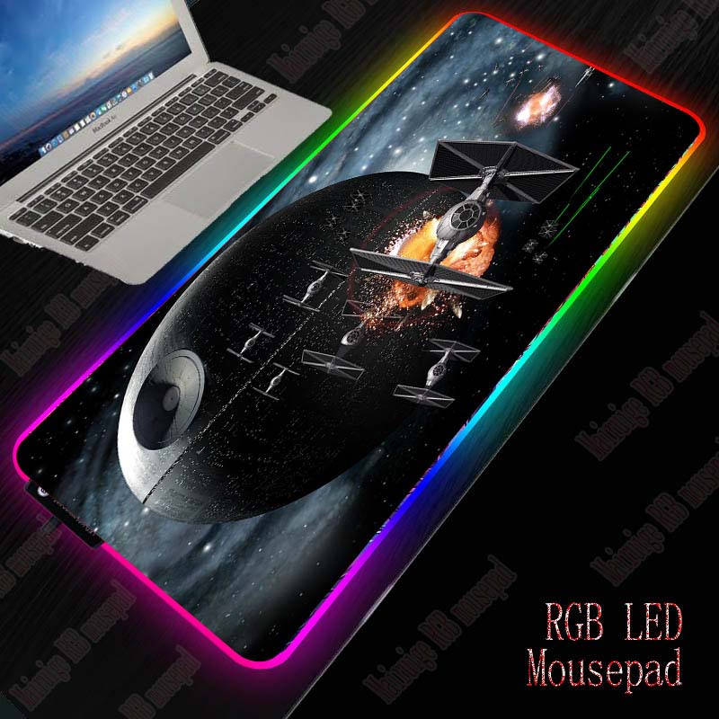 XGZ Star Wars Gaming RGB Large Mouse Pad Gamer Big Mouse Mat Computer Mousepad Led Backlight 7colour Mause Pad Keyboard Desk Mat 1