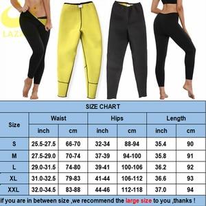 Image 5 - LAZAWG Braga de Control para mujer, pantalones ajustados de neopreno para Sauna con calor, moldeador de cuerpo, pantalones de entrenamiento deportivo, adelgazante de muslos