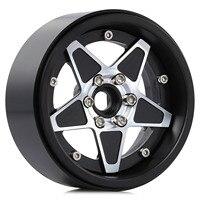 "INJORA 4PCS 2.2"" Metal Beadlock Five-pointed Star Wheel Hub Rim for RC Crawler Car Traxxas TRX4 TRX6 Axial SCX10 RR10 Wraith 2"