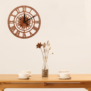 Vintage Style Non-ticking Silent Antique Wood Wall Clock For Home Kitchen Office Alarm Clock Wood Home Decor Living Room Art