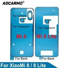Aocarmo для XiaoMi 8 Mi8/Honor 8 Lite задняя крышка корпуса клей для фотоаппаратов стикеры отпечатков пальцев клей запасные части