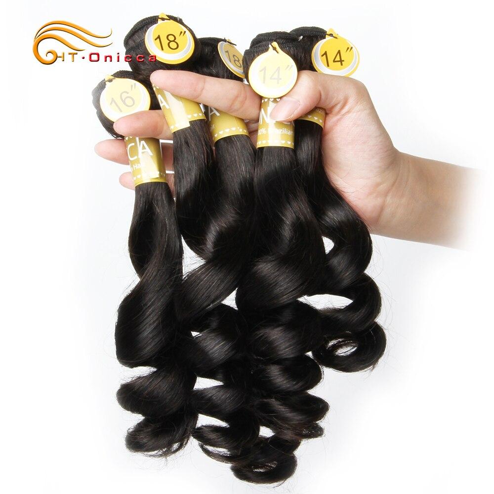 Funmi Hair Double Drawn 5pcs/Lot Egg Curl  Hair  Flexi /Pissy /Pixie Spring Curl   Bundles 4