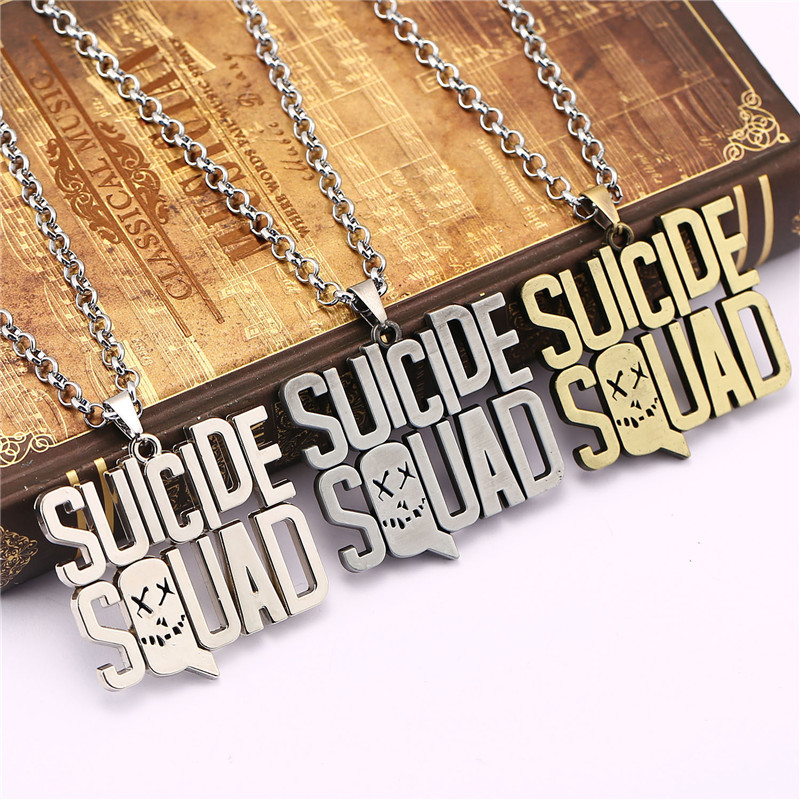 DC Comic Suicide Squad Keychain Key Rings For Gift Chaveiro Car Letter Key Chain Jewelry Movie Harley Quinn Key Marvel