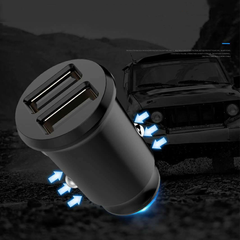 1pc Mini <font><b>Dual</b></font> <font><b>USB</b></font> <font><b>12V</b></font> <font><b>Car</b></font> C-harger <font><b>3.1A</b></font> Fast Charging 2 Port <font><b>USB</b></font> Phone Quick <font><b>Charger</b></font> Auto <font><b>USB</b></font> <font><b>Socket</b></font> <font><b>Adapter</b></font> Accessory image