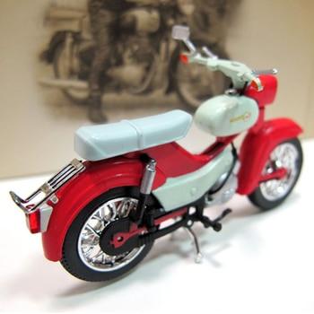 Juguete a escala 124, motocicleta de aleación de modelo de motocicleta SIMSON STAR, coche de simulación Vintage, modelo DIY ensamblado, juguetes para niños