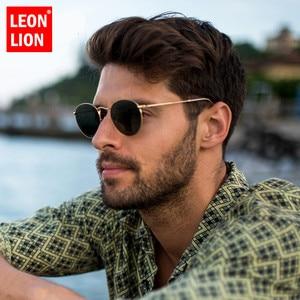 LeonLion 2020 Fashion Retro Sunglasses Men Round Vintage Glasses for Men/Women Luxury Sunglasses Men Small Lunette Soleil Homme