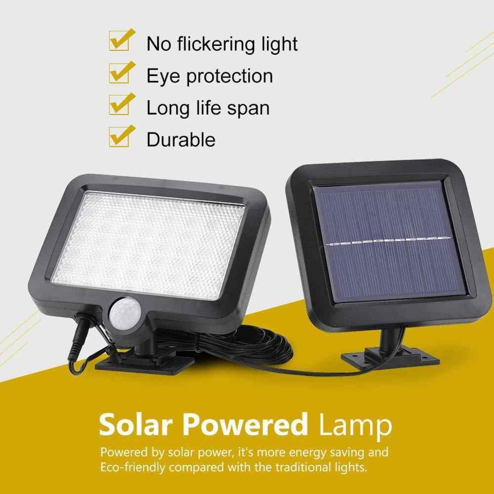 Applique Da Parete Solare 56/30 Led PIR Sensore di Movimento Nightlight Lampada Solare per Giardino Esterno Street Yard Percorso di Controllo del Suono split moun