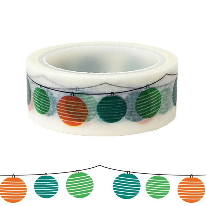 1 Pcs Kawaii Holiday Balloon Lantern Gift Packaging DIY Beautification And Paper Washi Tape Masking Tape For Holidays Stationery