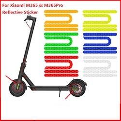 Отражающая наклейка для электроскутера Xiaomi Mijia M365 Pro, Светоотражающая наклейка для M365, детали для безопасной езды на велосипеде и скутере, 4 ш...