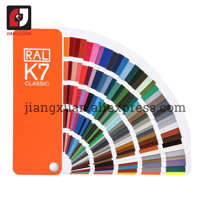 Original Germany RAL color card international standard Ral K7 color chart for paint 213 colors  with Gift BoxPneumatic Parts   -