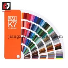Original alemanha ral cor do cartão internacional padrão ral k7 gráfico de cores para a pintura 213 cores com caixa de presente
