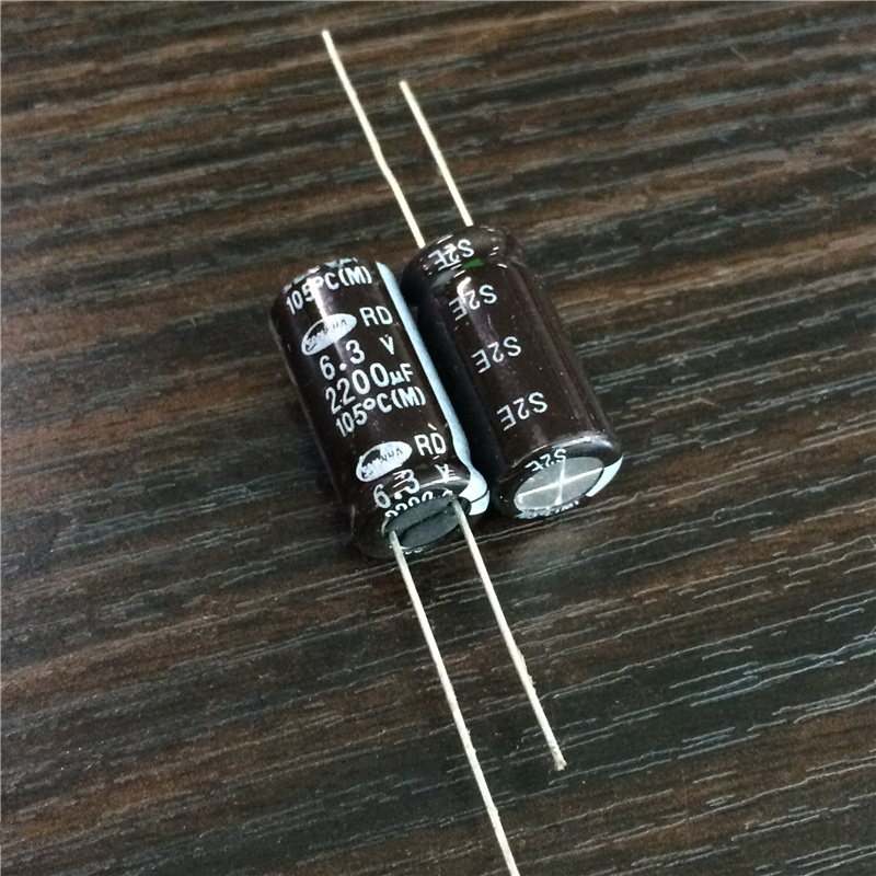 5pcs/50pcs 2200uF 6.3V SAMWHA RD Series Wide Temperature Range 10x20mm 6.3V2200uF Aluminum Electrolytic Capacitor