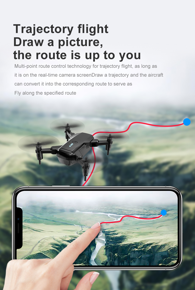 E3 Mini Drone with Camera 4K Hight Hold Optional Flow Remote Control