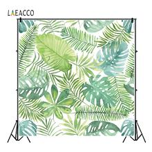 Laeacco Tropical Palms Tree Leaves Scenic Portrait Customize Photographic Backgrounds For Photography Backdrops For Photo Studio customize washable wrinkle free rococo painting style forest photography backdrops for photo studio portrait backgrounds s 1250
