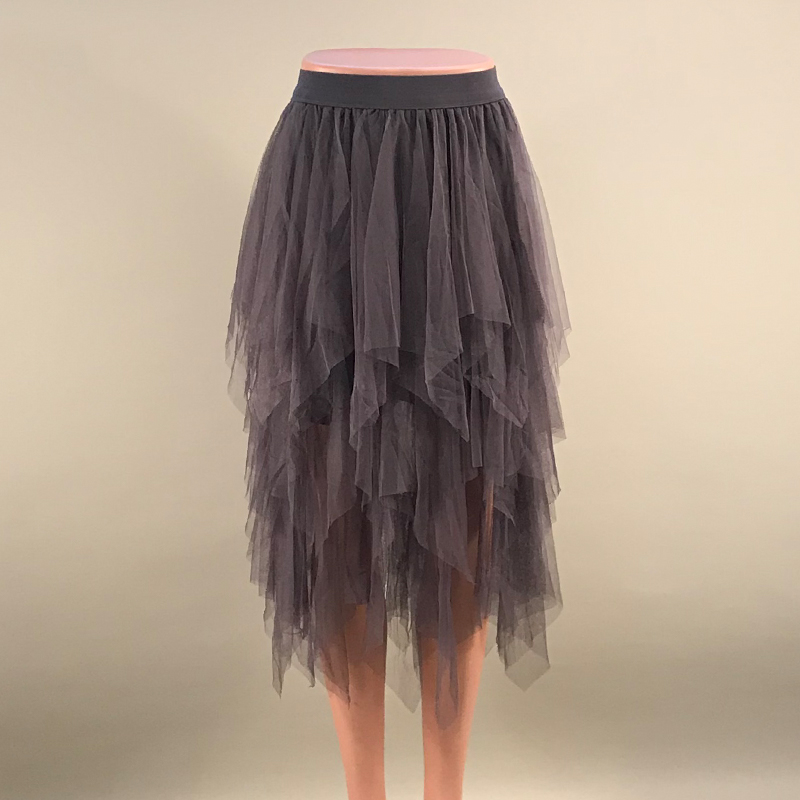 Tulle Skirts Womens Faldas Mujer Moda 19 Fashion Elastic High Waist Mesh Tutu Maxi Pleated Long Midi Saias Jupe Women's Skirt 15