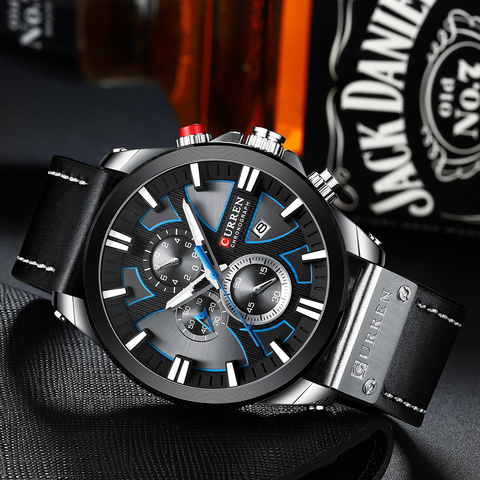 2019 CURREN Mens Watches Top Brand Luxury Fashion Leather Strap Sport Quartz Watches Outdoor Casual  Wristwatch Waterproof Clock Karachi