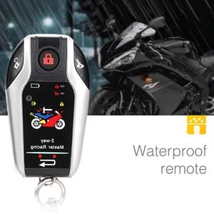 Image 4 - Two Way Motorcycle Alarm Device Anti theft System Scooter Burglary Vibration Alarm Remote Engine Start 5meter Auto lock 5