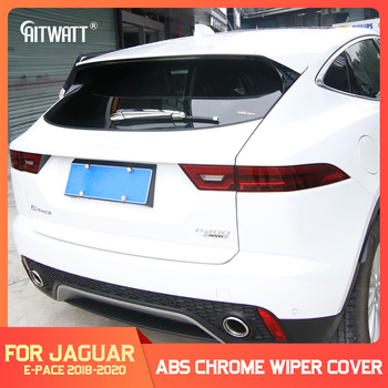 For Jaguar E-pace E pace 2018 2019 2020 Car ABS Chrome Rear Window Wiper Cover Trims Exterior Windscreen Wipers Decoration 4Pcs 1