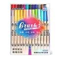 DS 6/12/24 цвета акварельные двойные кисти  набор кистей  маркеры  мягкая и жесткая ручка для надписей  цветной пули  журнал поставок