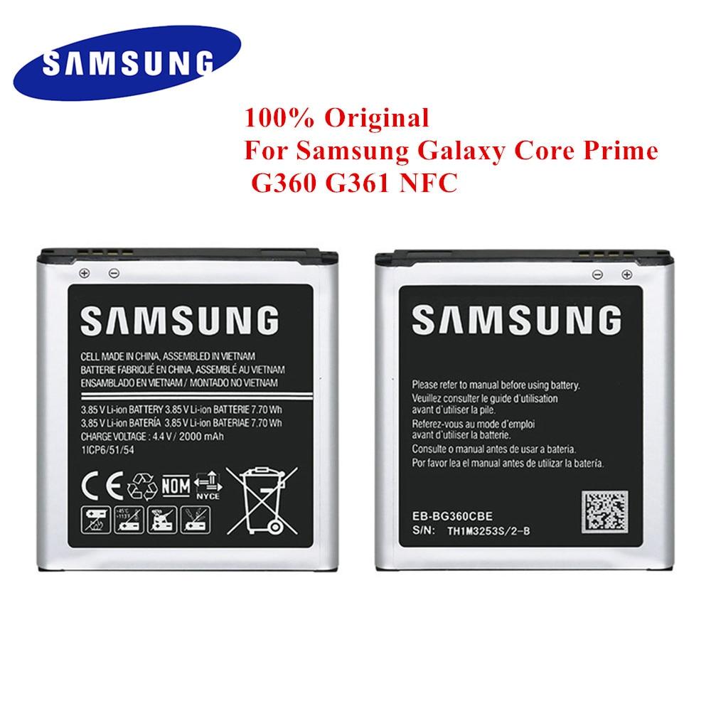 Original Battery Eb Bg360bbe For Samsung Galaxy Core Prime G360 G361 G360f G361f G360v G3606 G3608 G360h J2 2015 2000mah Nfc Mobile Phone Batteries Aliexpress