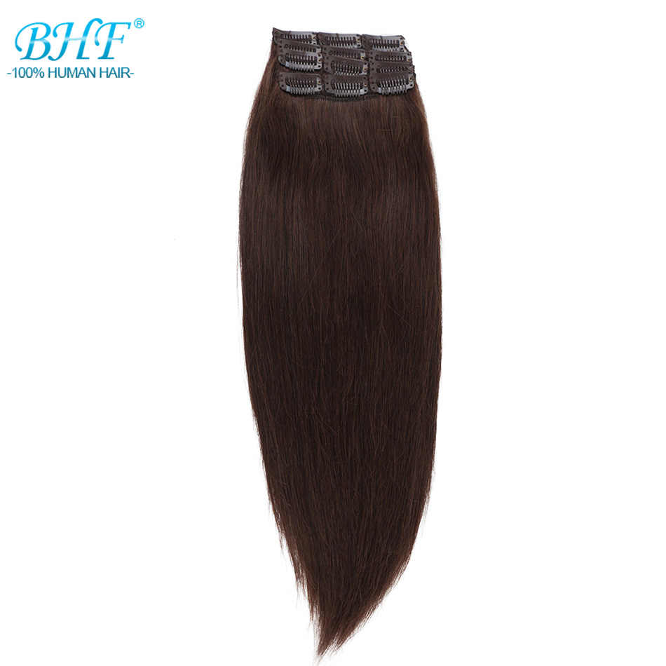 BHF 3 pieces Clip In Human Hair Extensions Straight Machine Made Remy 100% Chinese Hair 30g  90g